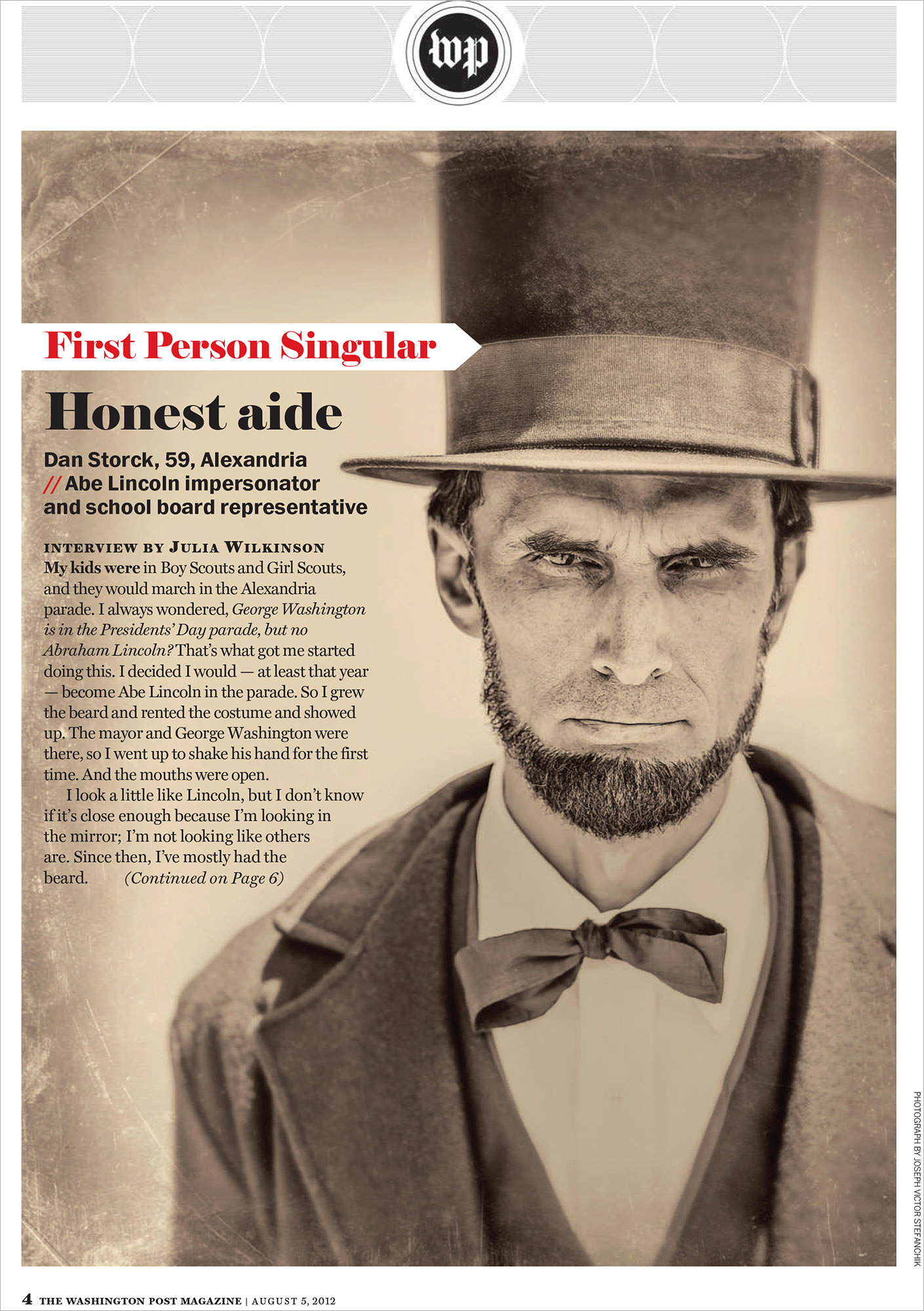 Abraham Lincoln Impersonator -Florida Editorial Photographer